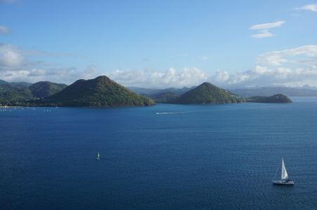 Výhľad na záliv Rodney Bay z pevnosti Fort Rodney