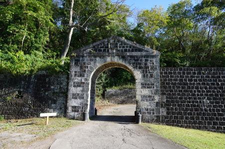Vchod do spodnej časti pevnosti