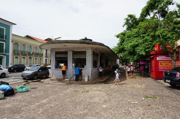 Egyptská ulica (Rua do Egito) oddeľujúca historické (vľavo) a nové (vpravo) centrum São Luís