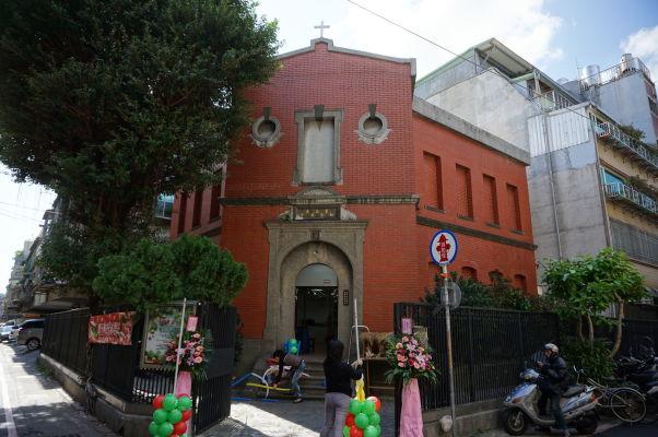 Kostol na ulici Gui-de neďaleko ulice Dihua v Tchaj-peji