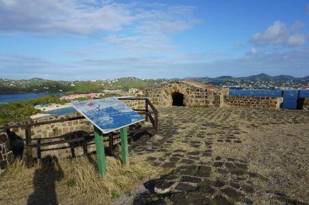 Pevnosť Fort Rodney v národnom parku Pigeon Island na Svätej Lucii
