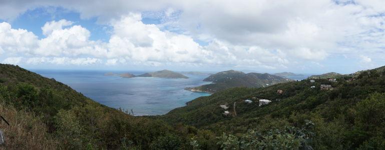 Výhľady na Karibik v okolí Tortoly