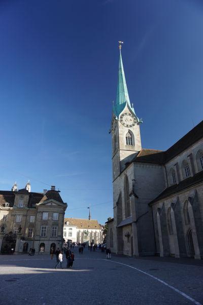 Kostol Fraumünster v Zürichu