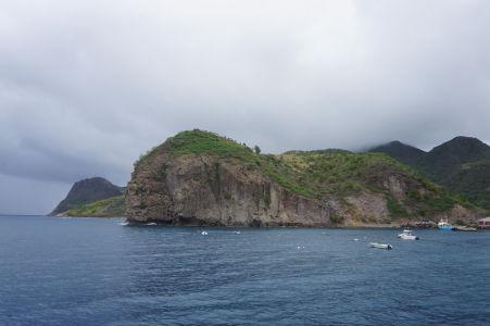Skalisko na severnom výbežku ostrova Montserrat