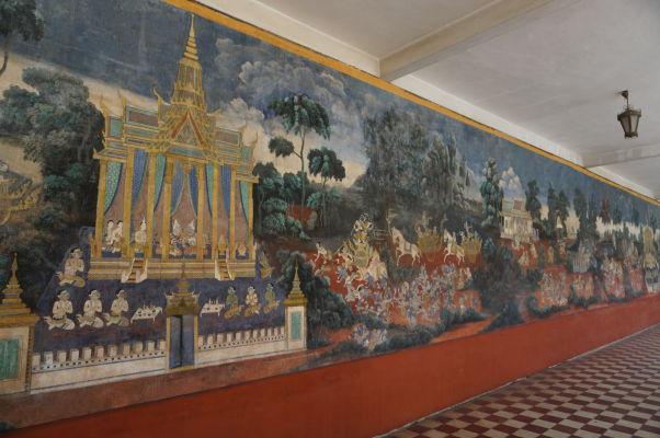 Nástenné maľby v Kráľovskom paláci v Phnom Penhu