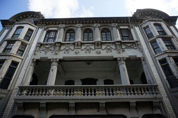 Neobarokový dom tchaj-wanského obchodníka Čchen Tian-laia na ulici Gui-de neďaleko ulice Dihua v Tchaj-peji