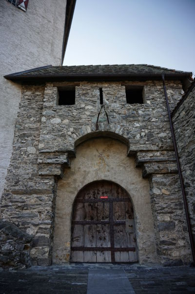 Vstupný portál do hradu Gutenberg v Balzers