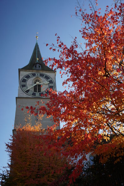 Kostol sv. Petra v Zürichu a veža s najväčšími hodinami v Európe