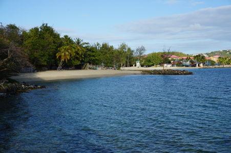 Pláž v národnom parku Pigeon Island