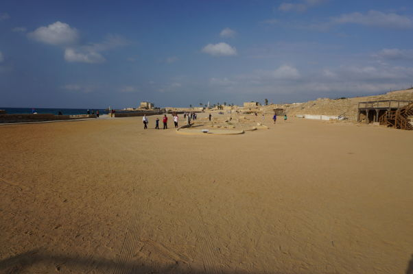 Hipodróm pre preteky štvorzáprahov v meste Caesarea