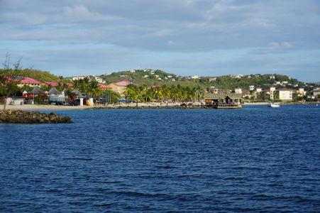 Záliv Rodney Bay je lemovaný plážami