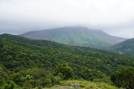 Sopka Soufriére ukrytá v oblakoch