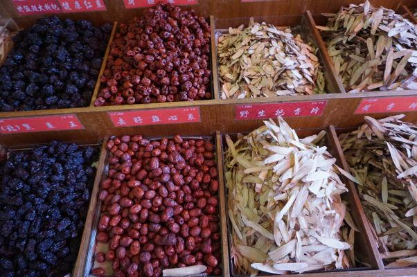 Sušené plody na ulici Dihua v Tchaj-peji