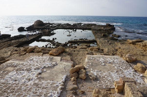 Pozostatky bazéna v paláci guvernéra mesta Caesarea
