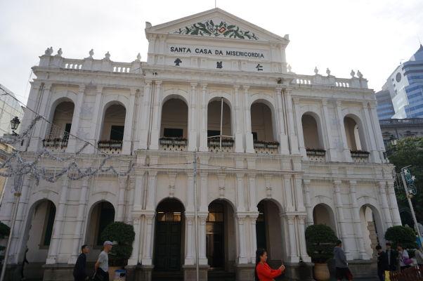 Múzeum Kostola milosti na Senátnom námestí (Largo do Senado) v historickom centre Macaa