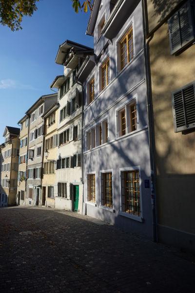 Domčeky na vrchu Lindenhof v Zürichu