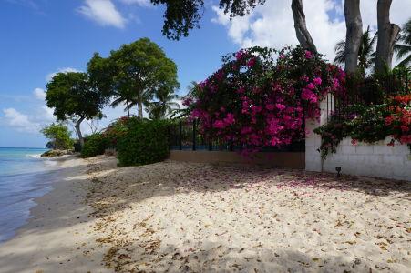 Piesočná pláž Sandy Lane Beach na Barbadose