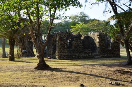Národný park Pigeon Island na Svätej Lucii - Ruiny niekdajšej kuchyne pre dôstojníkov britskej armády