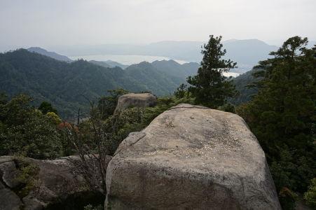 Výhľad z úplného vrcholu hory Misen