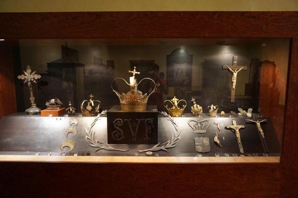 Klenoty v múzeu v barokovom Kostole sv. Dominika (Igreja de São Domingos) v historickom centre Macaa