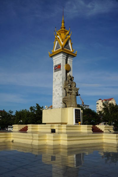 Pamätník kambodžsko-vietnamského priateľstva vo Wat Botum Parku v Phnom Penhu