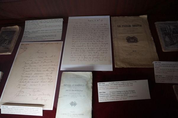 Knihy a listy Julesa Verna v jeho dome v Amiens