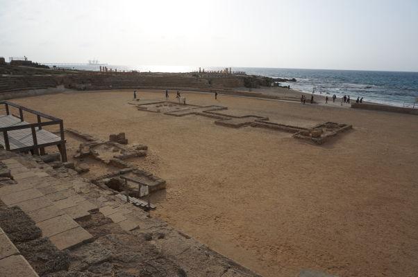 Hipodróm pre preteky štvorzáprahov (kvadríg) v meste Caesarea