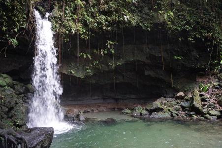 Emerald Pool - Smaragdové jazierko na Dominike