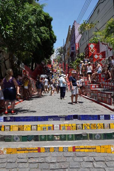 Selarónovo schodisko v Riu de Janeiru