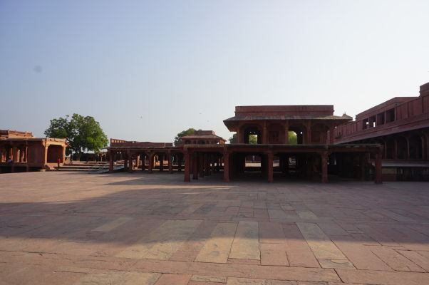 Nádvorie Pačisi vo Fatehpur Sikri
