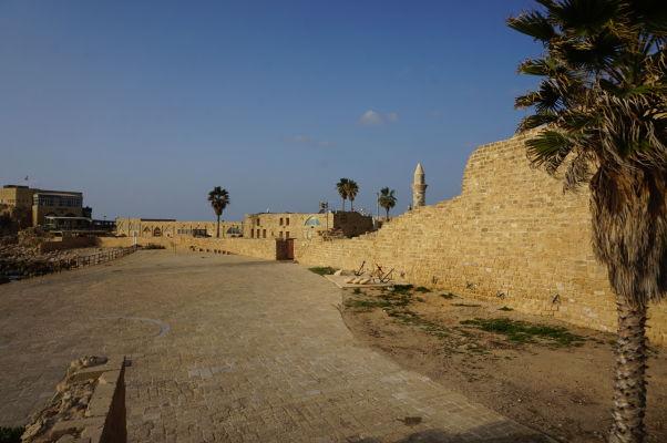 Zvyšky stredovekého mesta v Caesarei