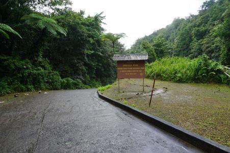 Príjazdová cesta k návštevníckemu centru Emerald Pool