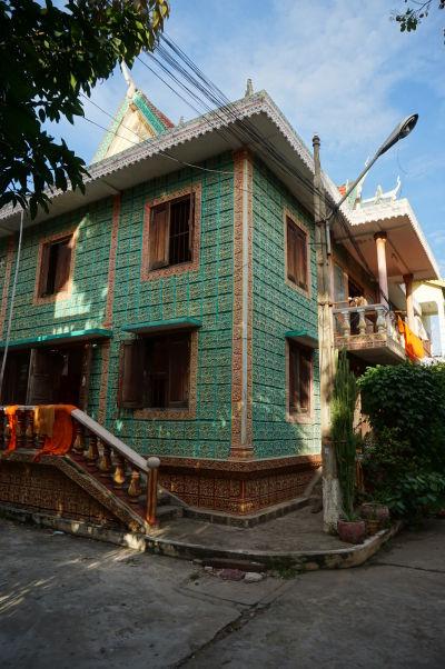 Ubytovňa mníchov chrámu Wat Botum v Phnom Penhu