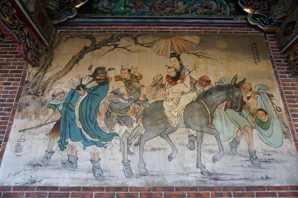 Nástenné maľby v chráme Bao-An v Tchaj-peji