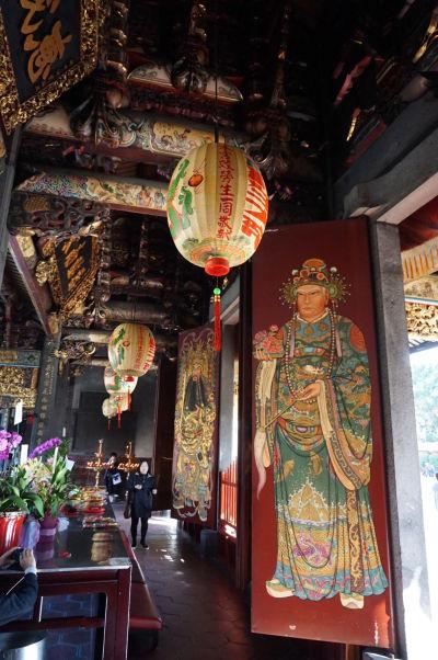 Dekorácie v chráme Bao-An v Tchaj-peji