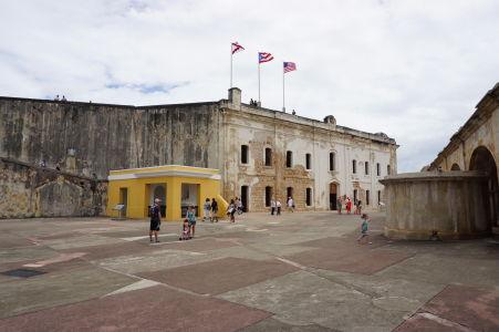 Hlavné nádvorie pevnosti San Cristóbal v San Juane