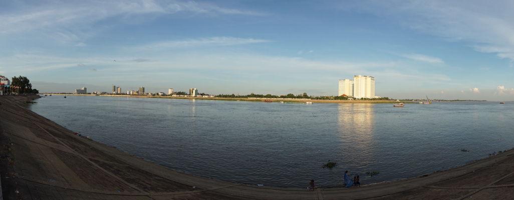 Sútok Tonlé Sap a Mekongu v Phnom Penhu