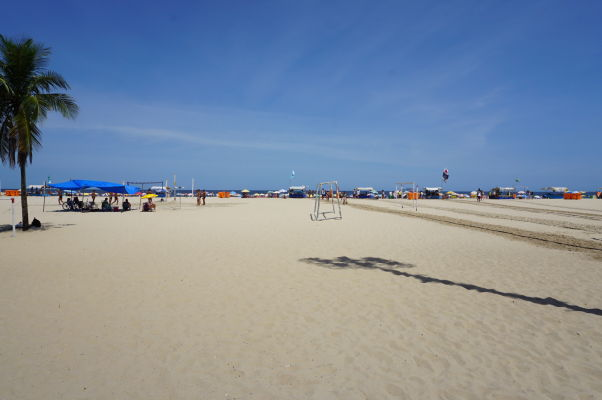 Pláž Copacabana v Riu de Janeiro