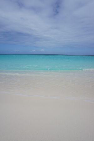 Skvostný piesok na pláži v Shoal Bay