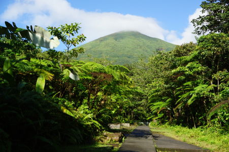 Vstupná cesta k treku k vodopádom Carbet
