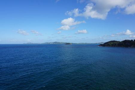 Výhľad na more z ostrovčeka Îlet Sainte-Marie
