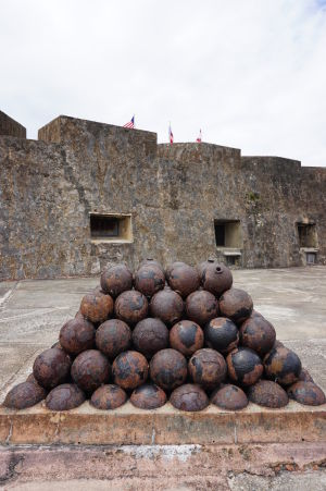 Munícia v pevnosti San Cristóbal