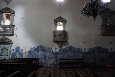 Sakristia chrámu so zvyškami dlaždíc azulejos