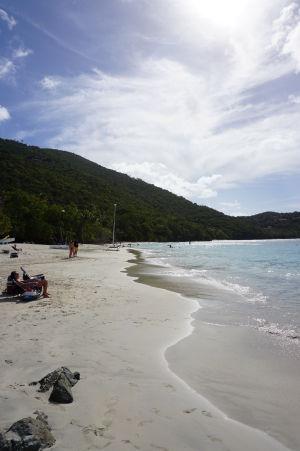 Škoricový záliv a jeho pláž