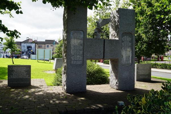 Pamätník hladovkového štrajku republikánskych väzňov v štvrti Bogside v severoírskom Londonderry (Derry)