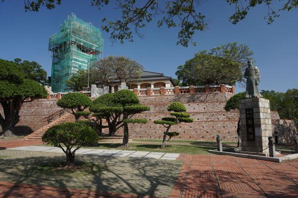 Pevnosť Fort Zeelandia v Tchaj-nane - jadro pevnosti a pozorovateľna v rekonštrukcii