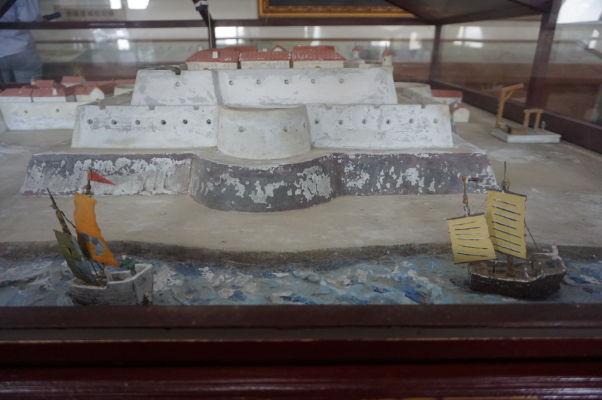 Pevnosť Fort Zeelandia v Tchaj-nane - historický model pevnosti