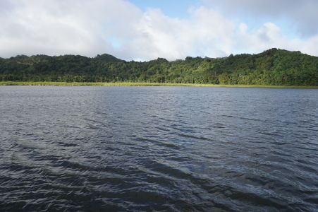 Jazero Grand Etang - Najväčšie na Grenade, ležiace v kráteri vyhasnutej sopky