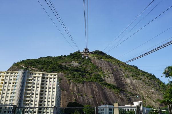 Lanovka vedúca na Morro da Urca v Riu de Janeiro