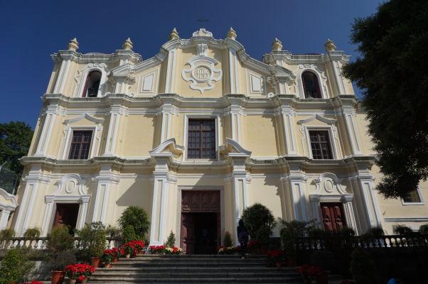 Chrám a seminár sv. Jozefa (Igreja e Seminário de São José) v Macau, základňa miestnych misionárov a niekdajšia vysoká škola